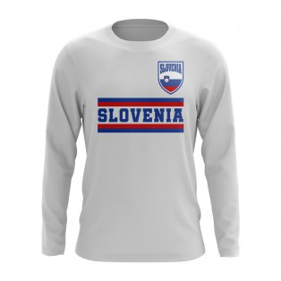 Slovenia Core Football Country Long Sleeve T-Shirt (White)