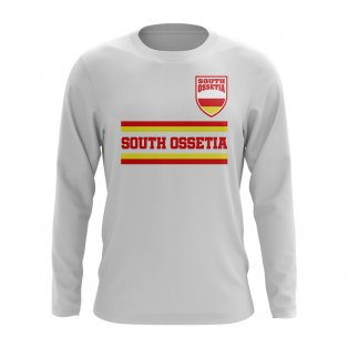 South Ossetia Core Football Country Long Sleeve T-Shirt (White)