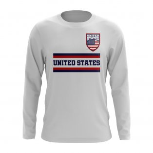 United States Core Football Country Long Sleeve T-Shirt (White)