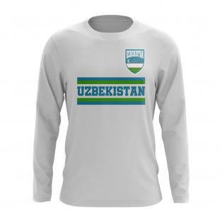 Uzbekistan Core Football Country Long Sleeve T-Shirt (White)