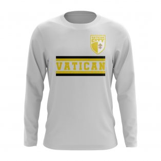 Vatican City Core Football Country Long Sleeve T-Shirt (White)