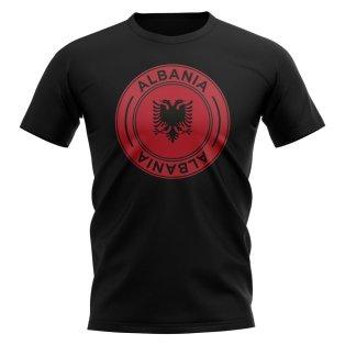 Albania Football Badge T-Shirt (Black)