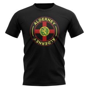 Alderney Football Badge T-Shirt (Black)