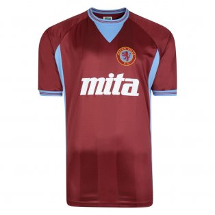 Score Draw Aston Villa 1984 Retro Football Shirt