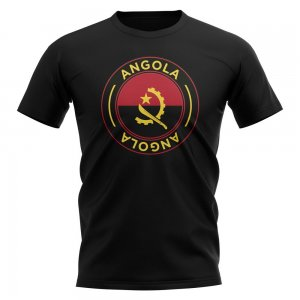 Angola Football Badge T-Shirt (Black)