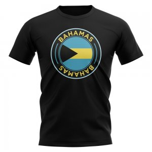 Bahamas Football Badge T-Shirt (Black)
