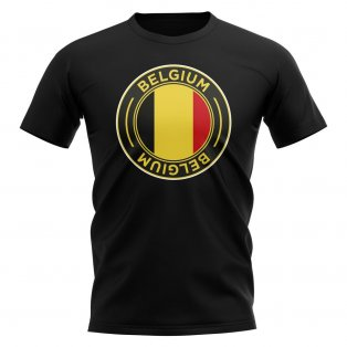 Belgium Football Badge T-Shirt (Black)