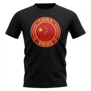China Football Badge T-Shirt (Black)