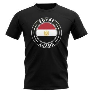 Egypt Football Badge T-Shirt (Black)