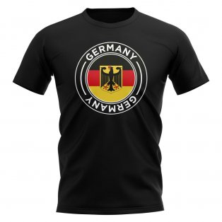 Germany Football Badge T-Shirt (Black)