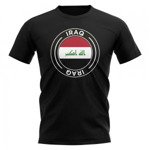 Iraq Football Badge T-Shirt (Black)