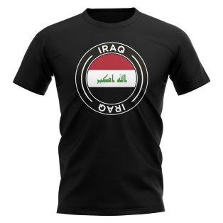 Iraq Football Badge T-Shirt (Black)