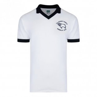 Score Draw Derby County 1975 Charity Shield Retro Football Shirt