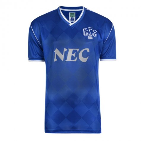 Score Draw Everton 1987 Retro Football Shirt