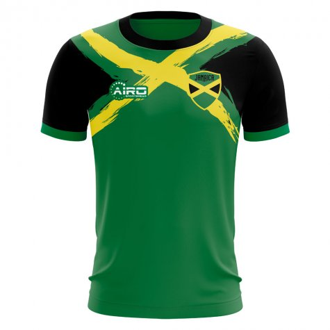 2020-2021 Jamaica Flag Concept Football Shirt - Little Boys