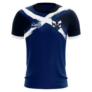 2019-2020 Scotland Flag Concept Football Shirt - Womens
