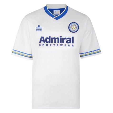 Score Draw Leeds United 1993 Admiral Retro Football Shirt
