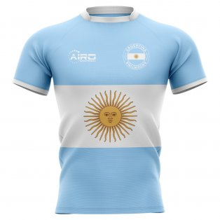 2019-2020 Argentina Flag Concept Rugby Shirt - Little Boys