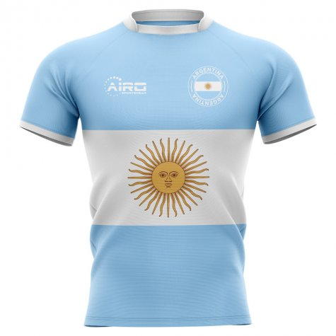2020-2021 Argentina Flag Concept Rugby Shirt - Little Boys
