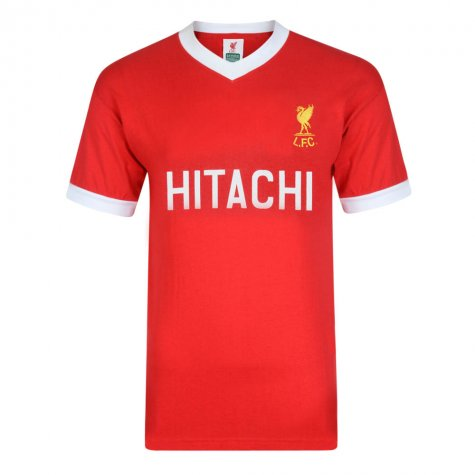 Score Draw Liverpool FC 1978 Hitachi Retro Football Shirt