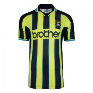 Score Draw Manchester City 1999 Wembley Retro Football Shirt
