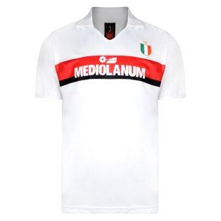 Score Draw Ac Milan 1988 Away Retro Football Shirt