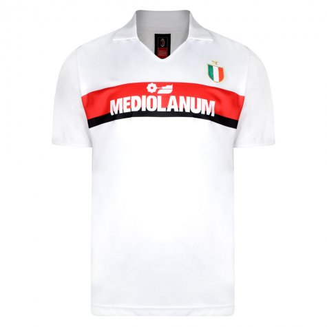 Score Draw Ac Milan 1988 Away Retro Football Shirt