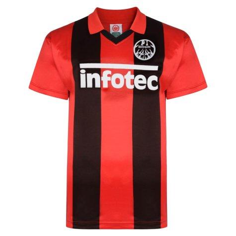Score Draw Eintracht Frankfurt 1982 Retro Football Shirt