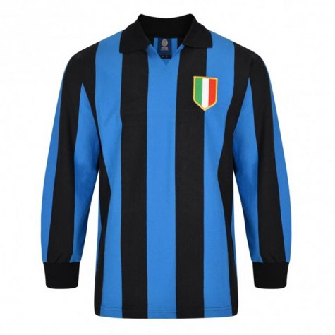 Score Draw Internazionale 1964 European Cup Final Retro Football Shirt