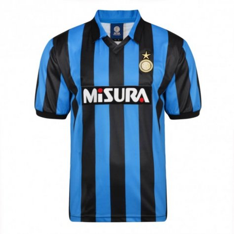 Score Draw Internazionale 1990 Retro Football Shirt