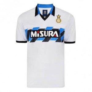 Score Draw Internazionale 1990 Away Retro Football Shirt