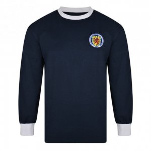 Score Draw Scotland 1967 Long Sleeve Retro Football Shirt