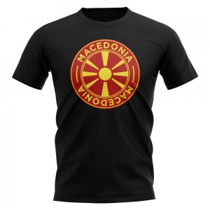 Macedonia Football Badge T-Shirt (Black)