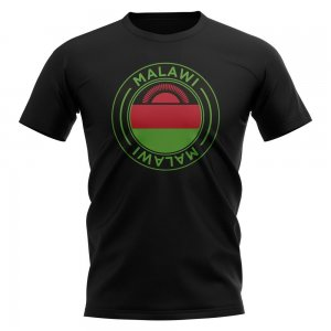 Malawi Football Badge T-Shirt (Black)