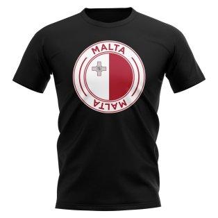 Malta Football Badge T-Shirt (Black)