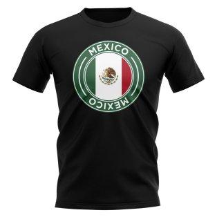 Mexico Football Badge T-Shirt (Black)
