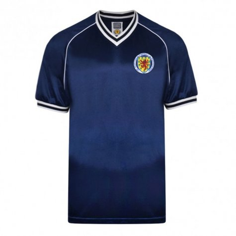 Score Draw Scotland 1982 Retro Football Shirt