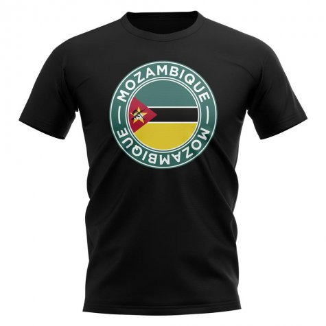 Mozambique Football Badge T-Shirt (Black)
