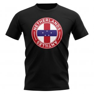 Netherlands Antilles Football Badge T-Shirt (Black)