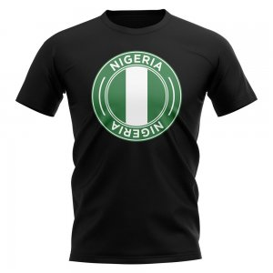 Nigeria Football Badge T-Shirt (Black)