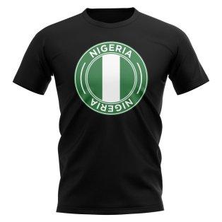 Nigeria Football Badge T-Shirt (Black)