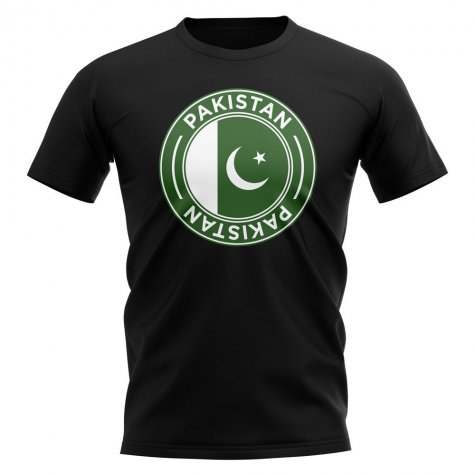 Pakistan Football Badge T-Shirt (Black)