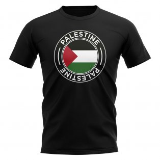 Palestine Football Badge T-Shirt (Black)