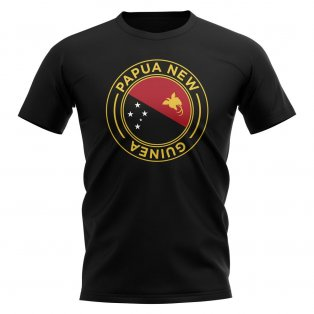 Papa New Guinea Football Badge T-Shirt (Black)