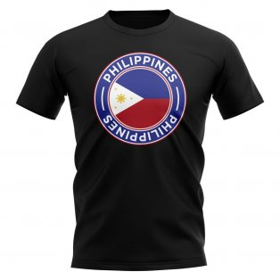 Philippnes Football Badge T-Shirt (Black)