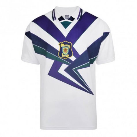 Score Draw Scotland 1996 Away Retro Football Shirt