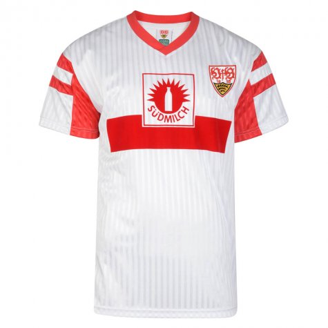 Score Draw Vfb Stuttgart 1992 Retro Football Shirt