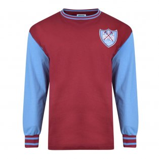 Score Draw West Ham United 1965 ECWC Final Retro Football Shirt