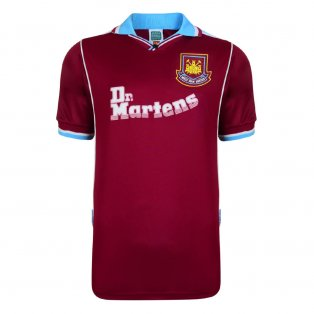 Score Draw West Ham United 2000 Retro Football Shirt