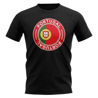 Portugal Football Badge T-Shirt (Black)